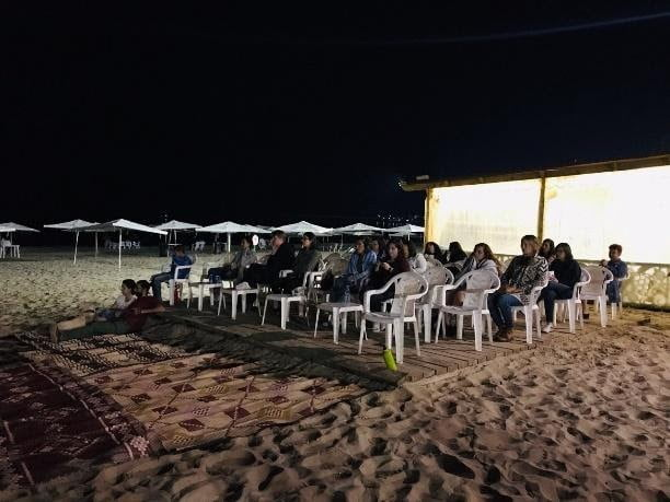 Screenings of documentaries about marine biodiversity followed by discussions. The screenings were conducted weekly on Ramlet elBayda Public Beach, open for everyone of all ages free of charge.